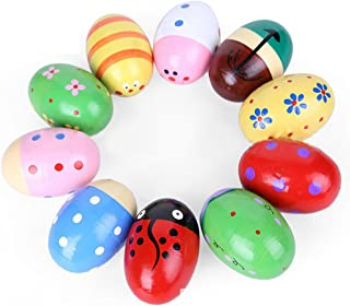 EDUPLAY 130280 Rassel-Eier Farbe zufällig, 1 Set 4-teilig