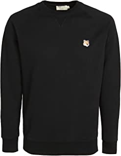Maison Kitsune Men's Crew Neck Sweatshirt with Fox Head Patch