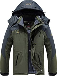 Sunward Men Coat Jacket Winterwear,Men Waterproof Hoodie Waterproof Detachable Breathable Sport Outdoor Coat