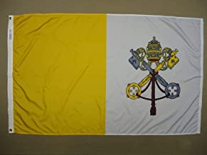product image for Annin Flagmakers Model 93200 Papal 3x5 ft. Nylon Dyed Design Flag, 100% Made in USA