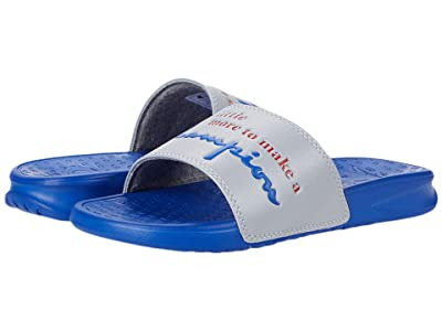 Champion Kids Super Slide More (Little Kid) (Silvers Stone/Blue) Kid