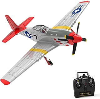 RC Airplane, 4CH Beginner Airplane with 6-Axies Gyro System and Rear Pusher 2.4Ghz Remote Control Distance 400m (768-1) RT...