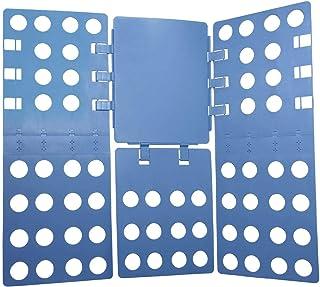 iGadgitz Home U7127 Doblador Ropa Plegable, Doblador Camisetas, Tabla Dobla Ropa Ajustable -Azul