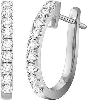Best 5 carat diamond hoop earrings Reviews