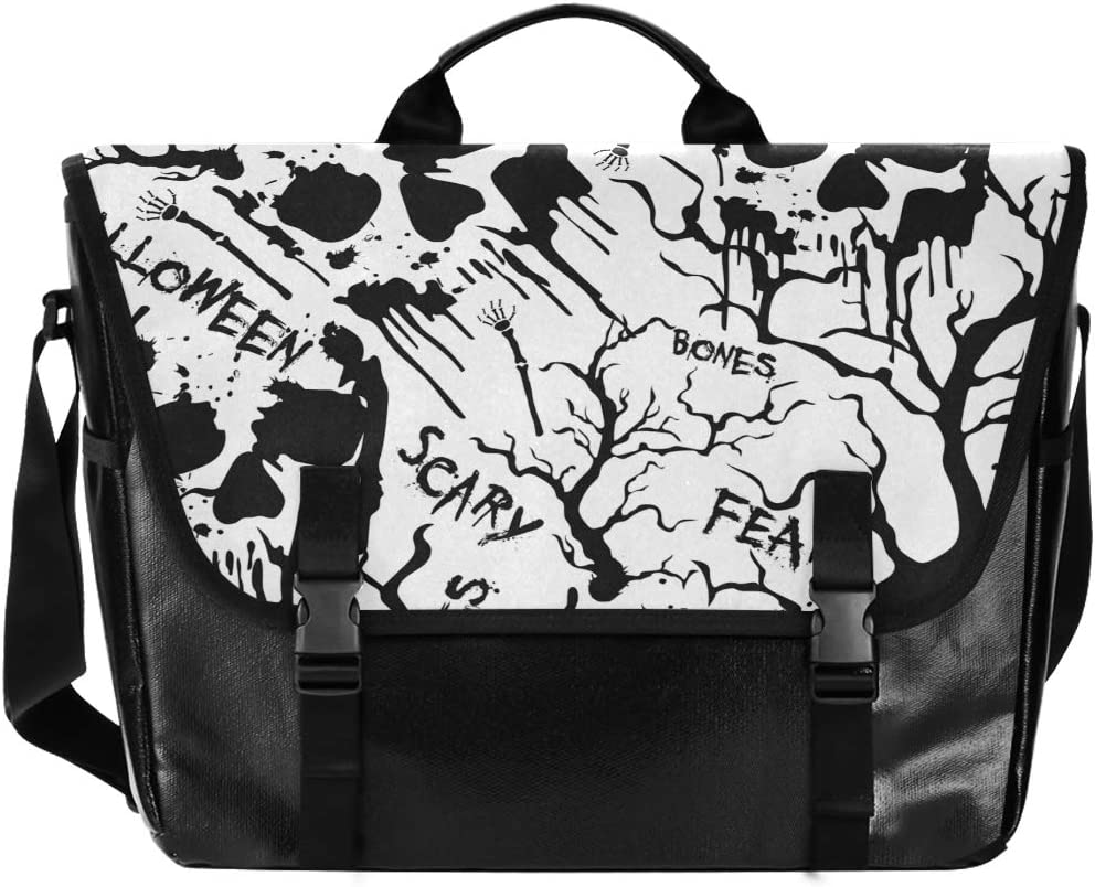 White Halloween Skull Tree Large C Messenger Flapover Bag shop Unisex Be super welcome