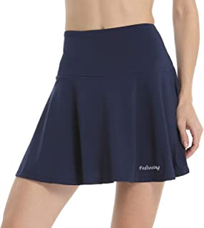 FEDTOSING Women's Workout Tennis Skirts High Waisted Active Exercise Running Golf Sports Skorts with Pockets