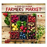 2021 Farmer's Market 16-Month Wall Calendar for Planning, Scheduling, and Organizing