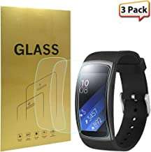 [3-Pack] Samsung Gear Fit2 Pro Screen Protector, Zeking Full Coverage [Nano Explosion Proof] HD Clear [Anti Scratch][Anti-Fingerprint], Lifetime Replacement Warranty