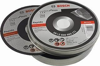 Bosch Professional 10 st. kapskivor Standard for Inox Rapido WA 60 T BF (för rostfritt stål, Ø 125 mm, rak, tillbehör vink...