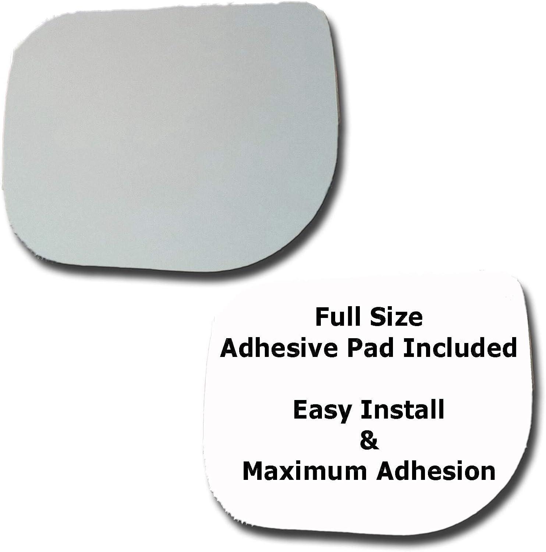 Mirror Glass + Full Size Adhesive Infiniti QX5 Pad for Genuine ...