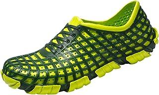 HUADUO Sandalias y Zapatos de Playa Transpirables Ahuecados Color Puro Zapatos Planos para el Agua Sandalias para Hombres ...