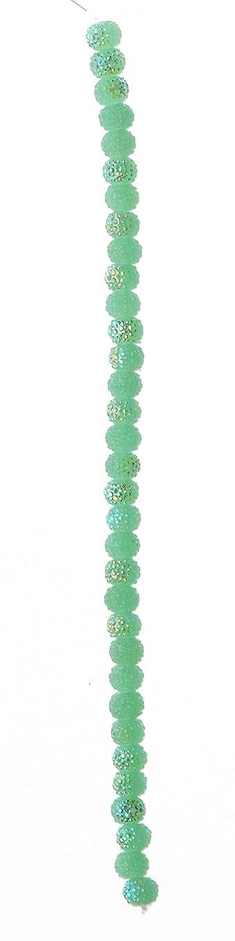 Darice 1999-5649 Strand Acrylic Glitter Beads 5x7mm 7
