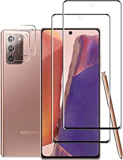 Galaxy Note 20 HD Clear Screen Protector + Camera Lens Protectors By YEYEBF, [2 + 2 Pack] [Anti-Bubble][in-Display Fingerp...