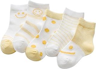 Black Temptation, 5 pares unisex del bebé Calcetines, 1-3 años de edad del bebé del algodón Calcetines #03