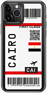 かわいい航空券ファーストクラスの電話ケース For iPhone 11Pro Max 7 8 Plus X XR XS Max 航空券レターソフトシリコーンバックカバー,For iPhone XS Max,T17
