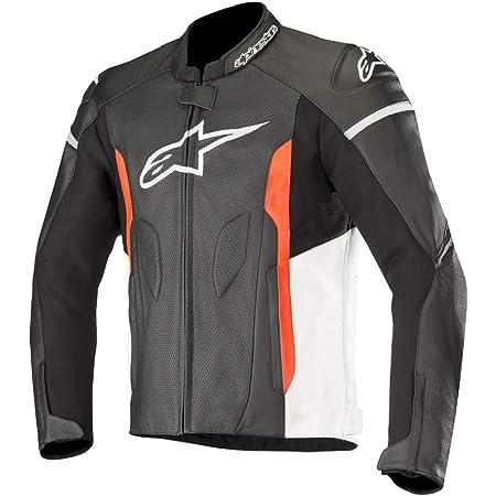 48 Black//Black Alpinestars Mens Faster Airflow Leather Street Motorcycle Jacket