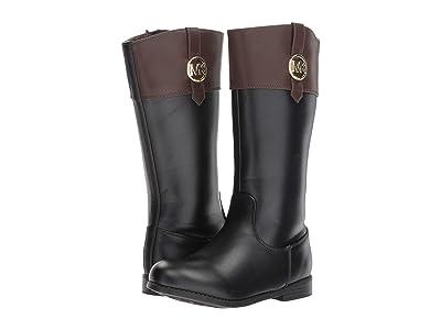 MICHAEL Michael Kors Kids Emma Kelly (Little Kid/Big Kid) (Black/Brown) Girls Shoes