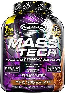 Mass Gainer Whey Protein Powder, MuscleTech Mass-Tech, Whey Protein Mass Gainer, Protein Powder and Creatine Monohydrate, ...