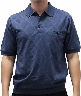 Safe Harbor Diamond Short Sleeve Banded Bottom Shirt 112017