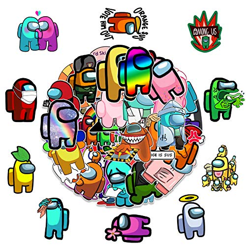 SUNSK Among Us Pegatinas Graffiti Stickers Pegatinas para Niños para Portátil, Monopatín, Pegatina Impermeable 100 Piezas