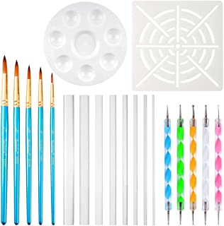 URlighting Dotting Tools (20 Pcs) Mandala Dotting Kit for Rock Painting, Coloring, Drawing & Drafting, Kids' DIY Crafts, C...