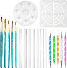 URlighting Dotting Tools (20 Pcs) Mandala Dotting Kit for Rock Painting, Coloring, Drawing & Drafting, Kids' DIY Crafts, C...