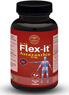Astaxanthin 6mg Antioxidant derived from Non-GMO Haematococcus Pluvialis Microalgae Naturally Occurring Algae Helps As Sun...
