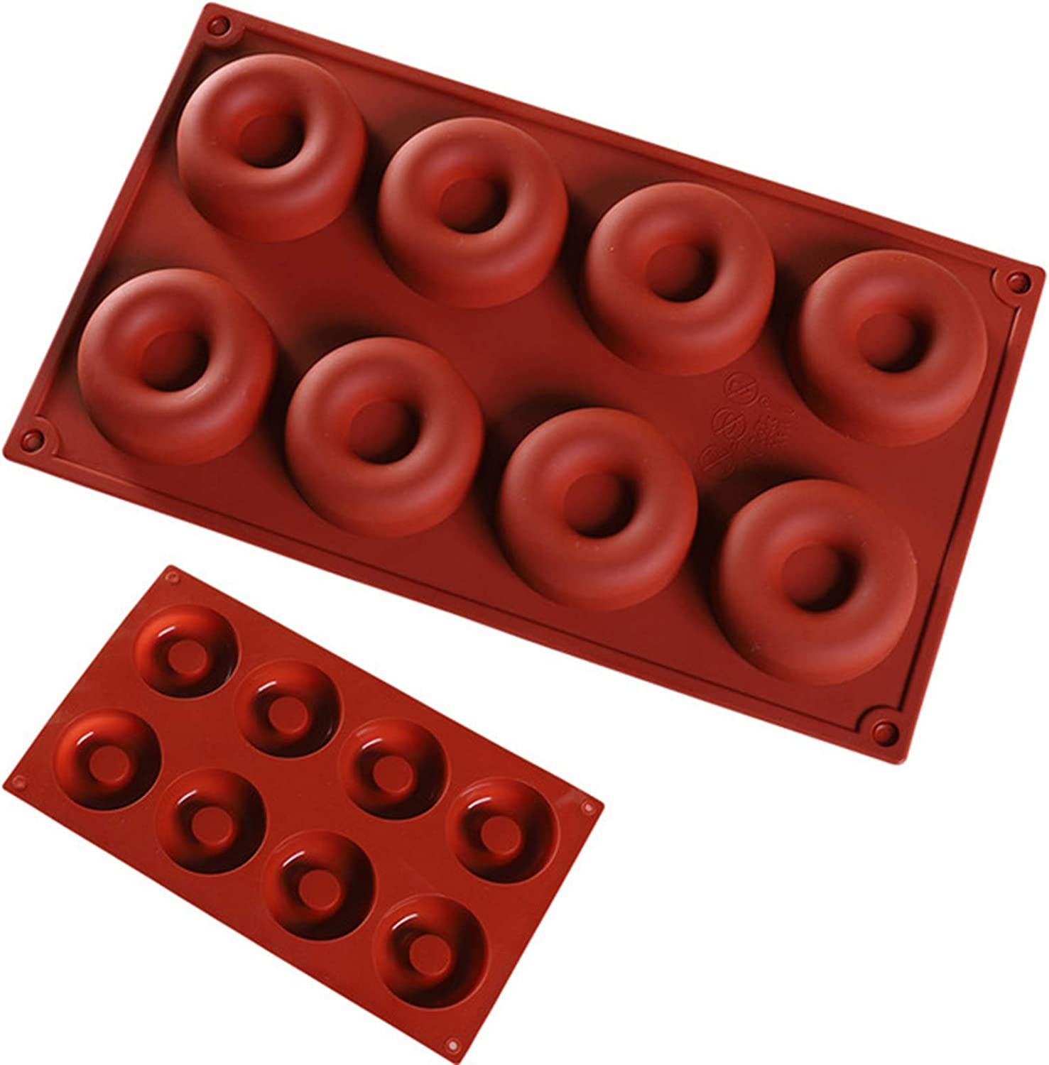2 Pack Silicone Baking Large-scale sale Factory outlet Tray Mould Maker Donut Doughnut