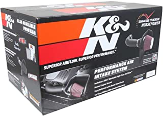 K&N Cold Air Intake Kit with Washable Air Filter: 2014-2020 Chevy/GMC/Cadillac (Silverado 1500, Suburban, Tahoe, Sierra 1500, Yukon, Yukon Denali, Escalade) V8, Black HDPE Tube, 63-3082