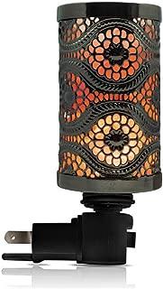 Himalayan Glow 1808 Black Metal Basket Salt Lamp Nightlight, 5.2
