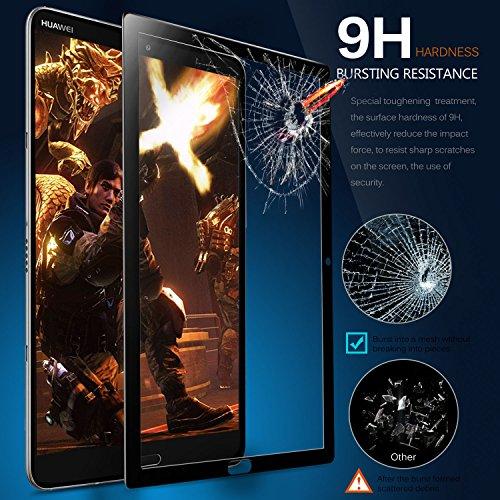 ELTD Schutzfolie für Huawei MediaPad M5 10.8,Premium 9H Härte 2.5D Runde Kante Anti-Fingerprint gehärtetem Glas Film Vollschutzfolie für Huawei MediaPad M5 10.8 Pro/M5 10.8 Zoll 2018 [Schwarz] - 5