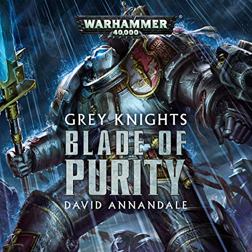 Grey Knights: Blade of Purity     Warhammer 40,000              Auteur(s):                                                                                                                                 David Annandale                               Narrateur(s):                                                                                                                                 Gareth Armstrong,                                                                                        Robin Bowerman,                                                                                        Ian Brooker,                   Autres                 Durée: 1 h et 20 min     3 évaluations     Au global 5,0