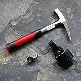 Geologenhammer im Gelände - Paket 2 für z.B. Erstsemester: Pickhammer, Lupe und Hammerhalter