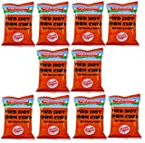 Old Vienna of St. Louis Snacks (Red Hot Corn Chips Hot Barbecue, 1.25 oz 10 Pack)