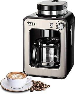 comprar comparacion TM Electron TMPCF020S Mini cafetera de Goteo con Molinillo Grano, 4 Tazas, 600W y Filtro Lavable Compatible con café molid...