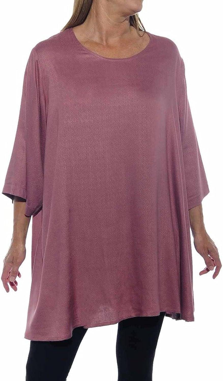 We Be Bop Womens Plus Size Jacquard Dusty pink Swing Top