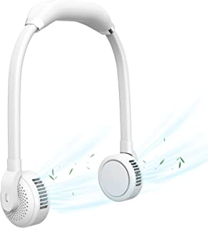 MoKo Portable Neck Fan, Hands Free USB Personal Neckband Fan, 3 Adjustable Speeds 180 Degrees Rotating Heads, Flexible Goo...