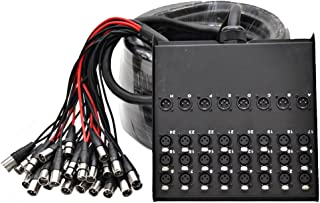 Seismic Audio SACB-24x8x100 24-Channel XLR Low Profile Circuit Board 100-Feet Snake Cable