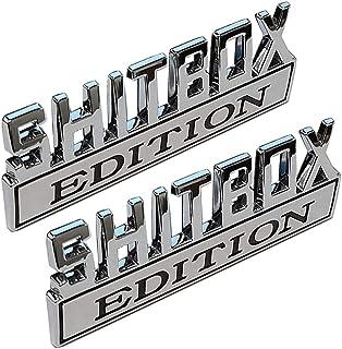 XCBW SHITBOX Edition 3D Metall Auto Logo Emblem Universal Auto Kofferraum Aufkleber Aufkleber Zubehör für F ord C hevrolet und andere Pickups,2PS
