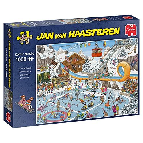 Jumbo Puzzles JUM19065 The Winter Games 1000 pcs Jigsaw Puzzle, Multi kleuren