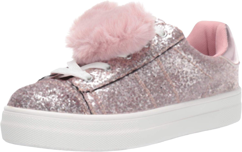 NINA Girl's britteni Sneaker, Blush Glitter, 1 Medium US Toddler