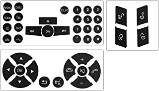 Steering Wheel & Door Lock Switch & Radio Button Stickers for 2008-2014 Mercedes Benz