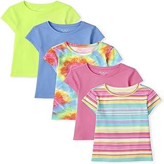 The Children's Place Girls Rainbow Basic Layering Tee 5-Pack, Multi CLR