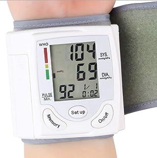 Skyllc® 3 PCS Monitor de Ppresión Sanguínea Automática Monitor de Ritmo Cardíaco Clínico con Gran Pantalla LCD Digital y Brazalete de Muñeca Ajustable