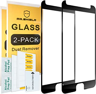 [2-Pack]-Mr.Shield for Motorola Moto G5S Plus/Moto G5S+ (Will NOT fit for G5 Plus) [Tempered Glass] [FullCover] [Black] Screen Protector with Lifetime Replacement