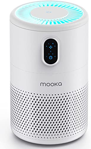 MOOKA Air Purifier for Home Large Room up to 430ft2, H13 True HEPA Air Filter Cleaner, Odor Eliminator, Remove Allerg...