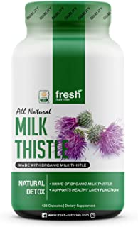 Milk Thistle Organic - 120 Servings of 2000mg - Strong – 4 Month Supply – CCOF Organic - Silymarin Thisilyn Seed Standardi...