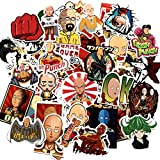 50Pcs One Punch Man Laptop Stickers Pack Waterproof Stickers Anime Stickers for Snowboard Laptop Luggage Car Motorcycle Bicycle Fridge DIY Styling Vinyl Sticker
