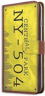 すまほケース 手帳型 ミラータイプ Xperia XZ SO-01J・SOV34・601SO 対応 ナンバープレート・セントラルパーク CentralPark ビンテージ USA アメリカン SONY ソニー エクスペリア エックスゼット do...