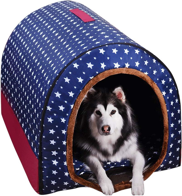 QUD Large dog kennel, winter warm washable pet nest medium dog dog kennel golden hair indoor dog house kennel (Size   XXL)